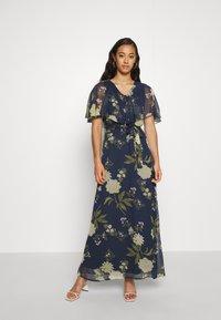Vero Moda - VMLUCCA FRILL DRESS - Occasion wear - night sky - 0