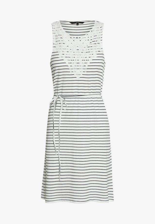 VMHELA SHORT DRESS - Jerseyjurk - snow white/night sky