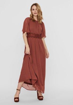 VMSALLY MAXI DRESS - Festklänning - mahogany