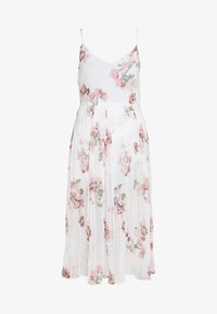 Vero Moda - VMLOVELY PLEAT SINGLET CALF DRESS - Day dress - snow white - 0