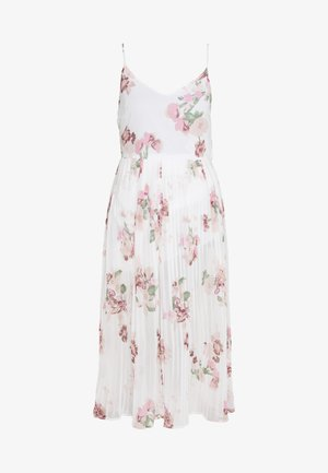 VMLOVELY PLEAT SINGLET CALF DRESS - Korte jurk - snow white