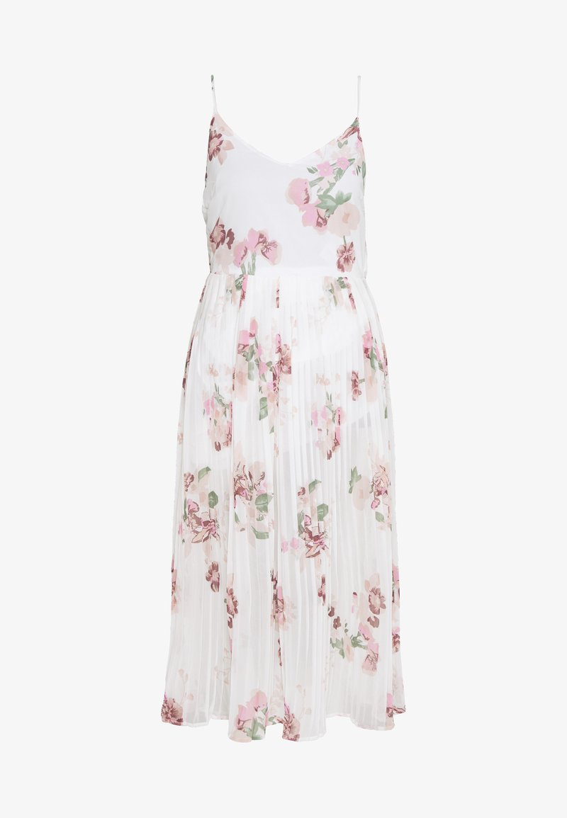 Vero Moda - VMLOVELY PLEAT SINGLET CALF DRESS - Day dress - snow white