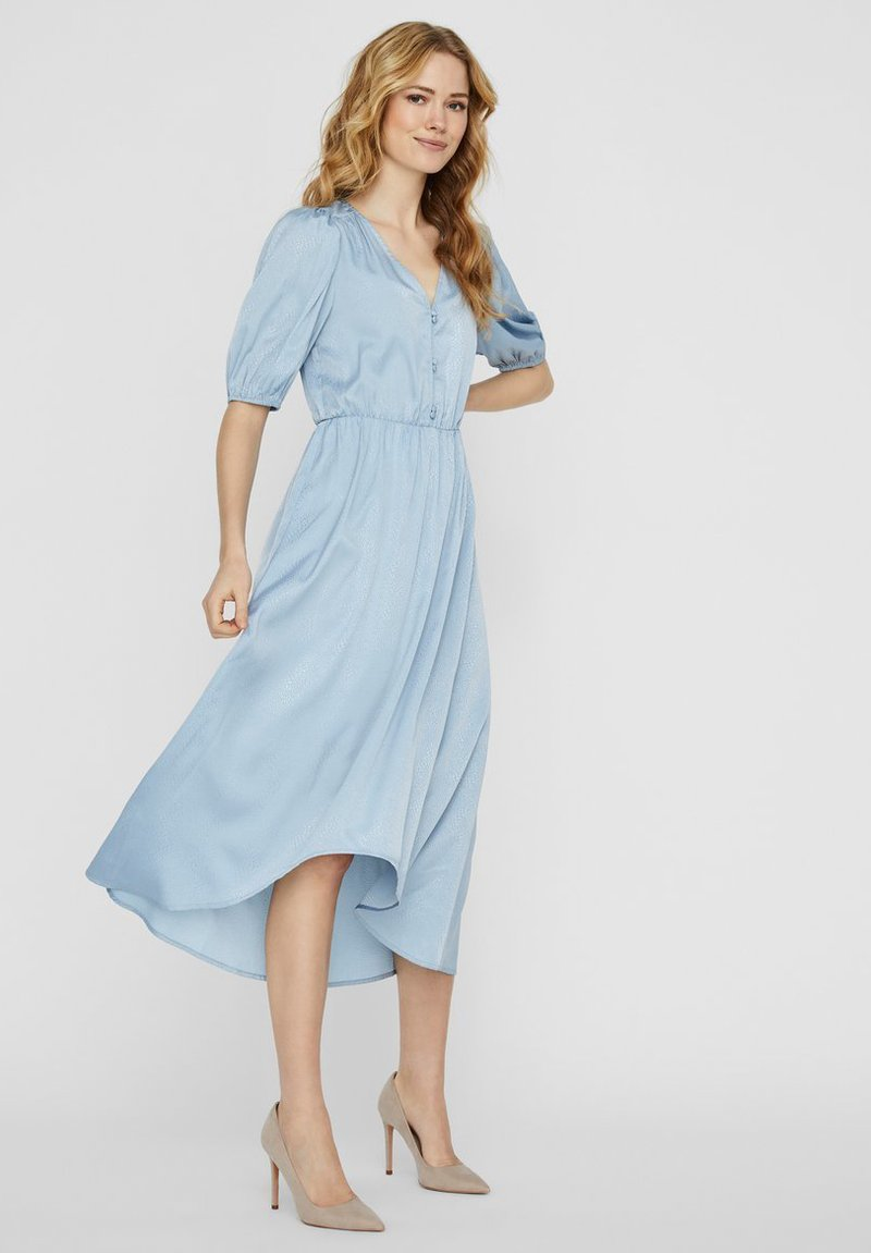 Vero Moda - MAXIKLEID V-AUSSCHNITT - Maxi-jurk - ashley blue