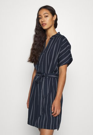 VMELEN STRIPE SHORT TUNIC - Kjole - navy blazer/birch