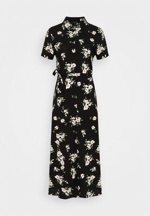 VMSIMPLY EASY LONG SHIRT DRESS - Skjortklänning - black