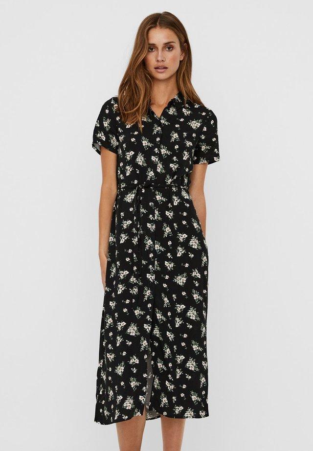 VMSIMPLY EASY LONG SHIRT DRESS - Sukienka koszulowa - black 2