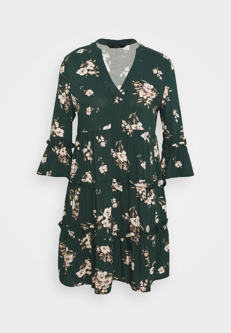 Vero Moda - VMSIMPLY EASY 3/4 WVN G - Day dress - ponderosa pine/sandy ponderosa pine