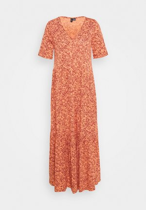 VMMITSI V-NECK ANCLE DRESS - Maxi dress - sun dried tomato