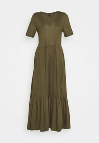 Vero Moda - VMMITSI V-NECK ANCLE DRESS - Maxi-jurk - ivy green - 3