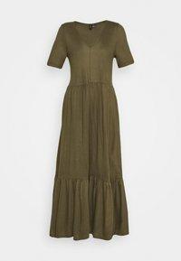Vero Moda - VMMITSI V-NECK ANCLE DRESS - Maxi-jurk - ivy green - 0