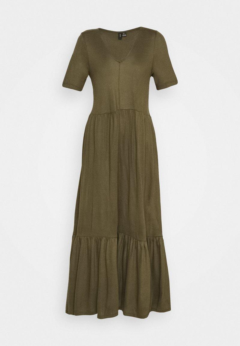 Vero Moda - VMMITSI V-NECK ANCLE DRESS - Maxi-jurk - ivy green