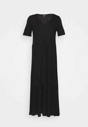 VMMITSI V-NECK ANCLE DRESS - Maxi šaty - black