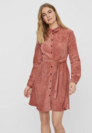 Shirt dress - marsala