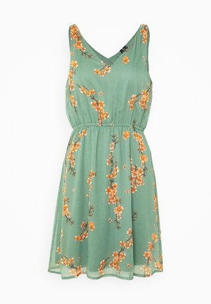 VMWONDA NEW SINGLET SHORT DRESS - Denní šaty - olive