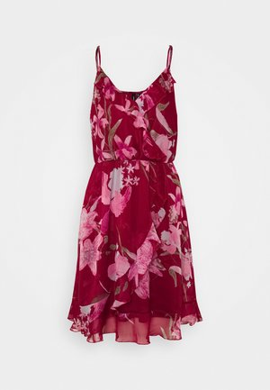VMWONDA FRILL SINGLET SHORT DRESS  - Korte jurk - tibetan red/asta