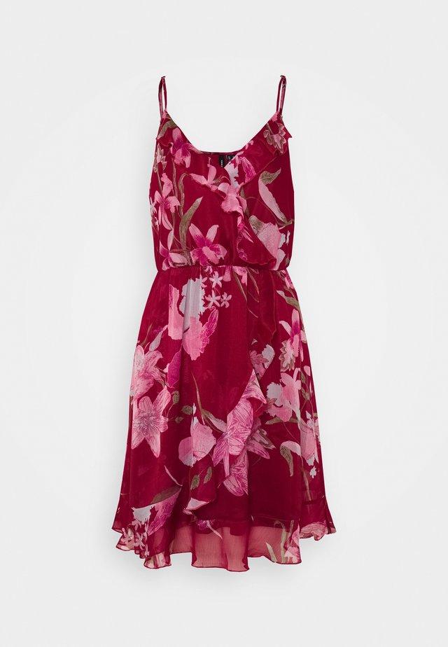 VMWONDA FRILL SINGLET SHORT DRESS  - Korte jurk - tibetan red/asta