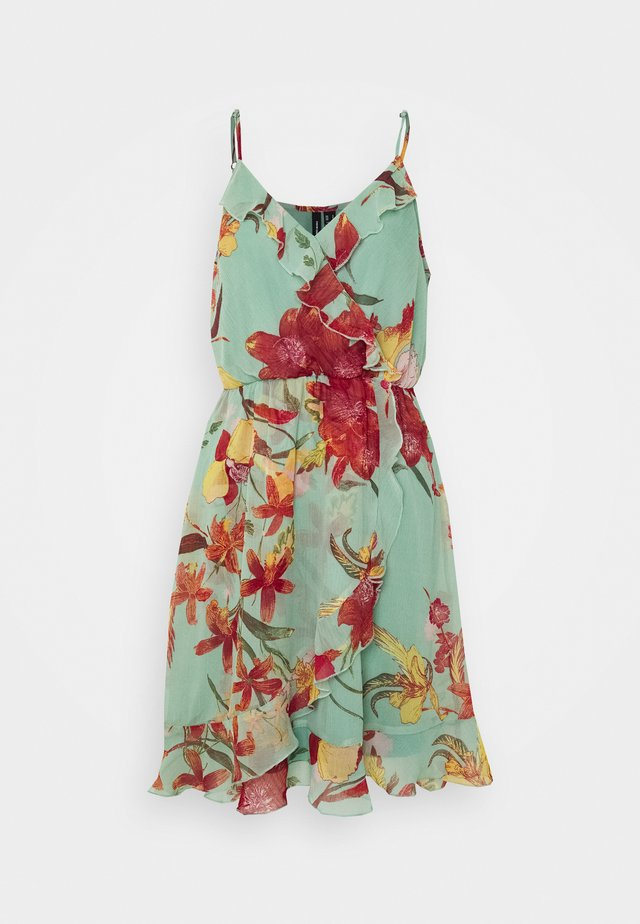VMWONDA FRILL SINGLET SHORT DRESS  - Korte jurk - jadeite/asta