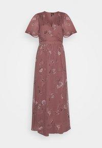 Vero Moda - VMWONDA WRAP DRESS  - Długa sukienka - rose brown - 4