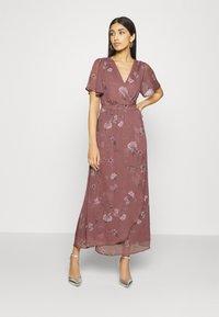 Vero Moda - VMWONDA WRAP DRESS  - Długa sukienka - rose brown - 0