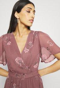 Vero Moda - VMWONDA WRAP DRESS  - Długa sukienka - rose brown - 3