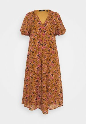 VMVILDE CALF DRESS - Korte jurk - buckthorn brown