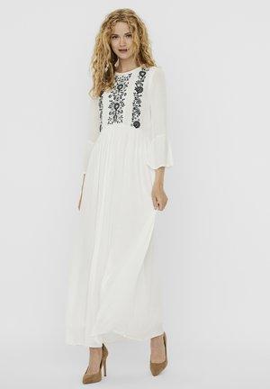 KARLA  - Maxi dress - snow white detail green milieu