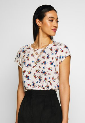 VMBOCA BLOUSE PRINTED - Blusa - birch/kissey