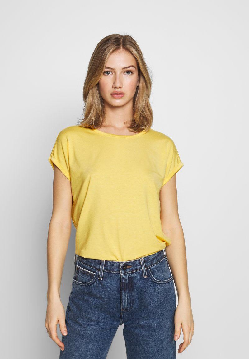 Vero Moda - VMAVA PLAIN - T-shirt basic - banana cream