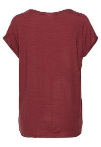 Vero Moda - VMAVA PLAIN - T-shirt basic - tibetan red - 1