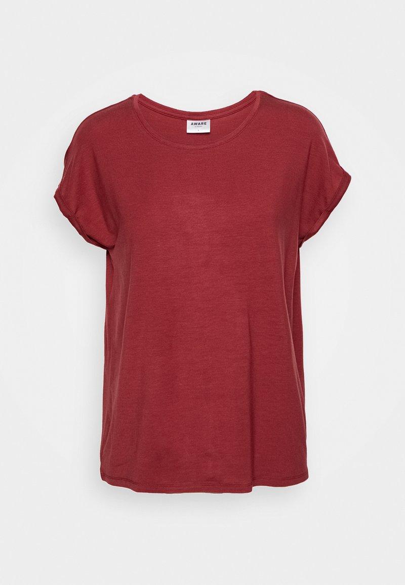 Vero Moda - VMAVA PLAIN - T-shirt basic - tibetan red