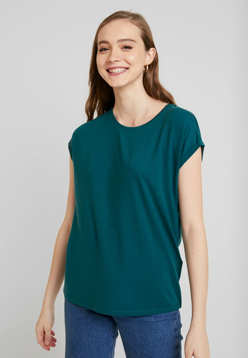 Vero Moda - VMAVA PLAIN - Camiseta básica - atlantic deep