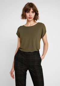 Vero Moda - VMAVA PLAIN - T-shirt basic - ivy green - 0