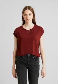Vero Moda - VMAVA  - T-Shirt basic - madder brown - 0