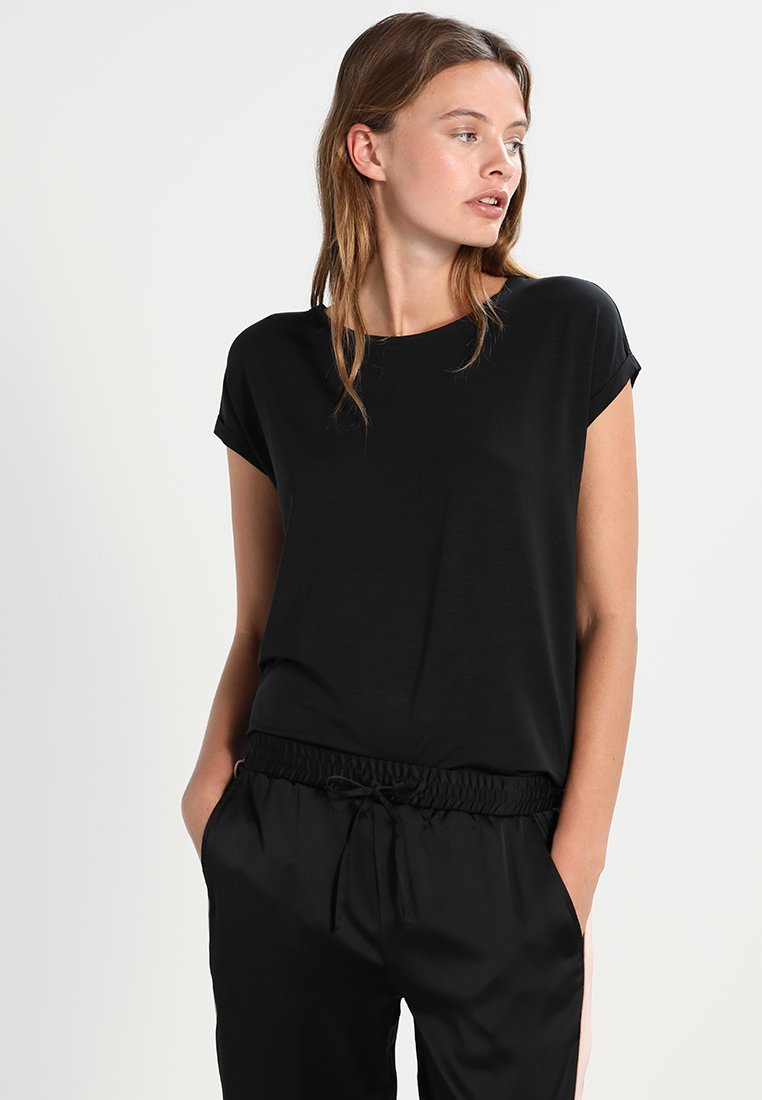 Vero Moda - VMAVA PLAIN - T-shirt basique - black