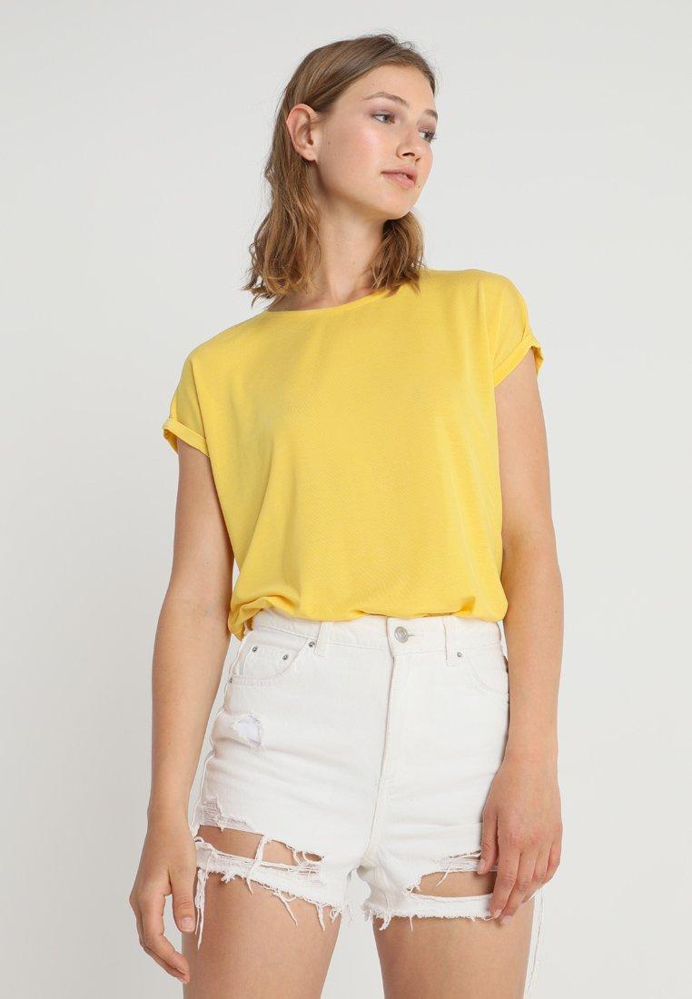 Vero Moda - VMAVA PLAIN COLOR - T-Shirt basic - super lemon