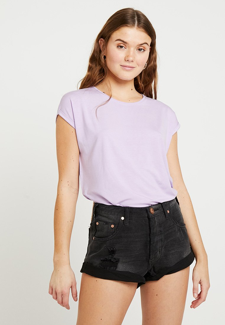 Vero Moda - VMAVA PLAIN COLOR - Basic T-shirt - lavendula