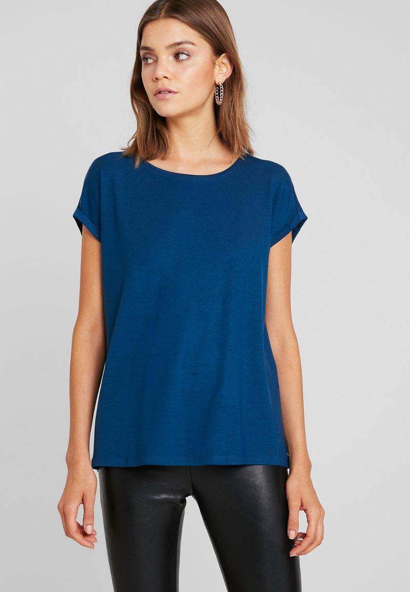 Vero Moda - VMAVA PLAIN COLOR - T-Shirt basic - gibraltar sea