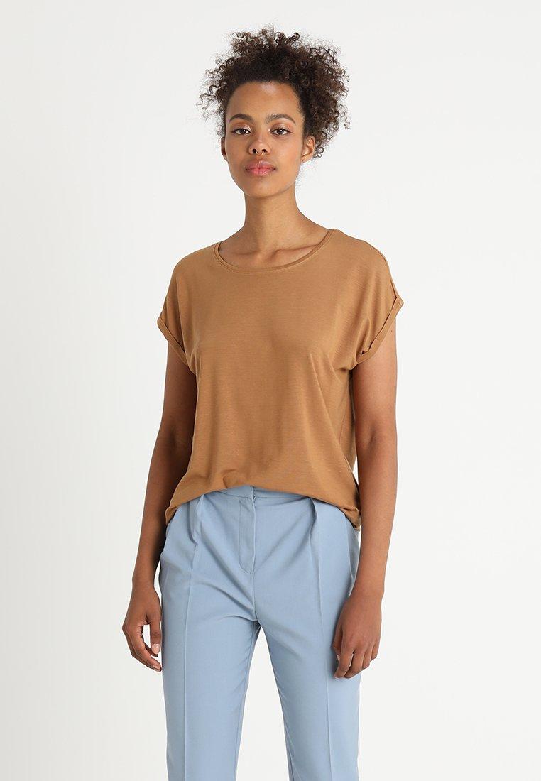 Vero Moda - VMAVA PLAIN COLOR - T-Shirt basic - tobacco brown