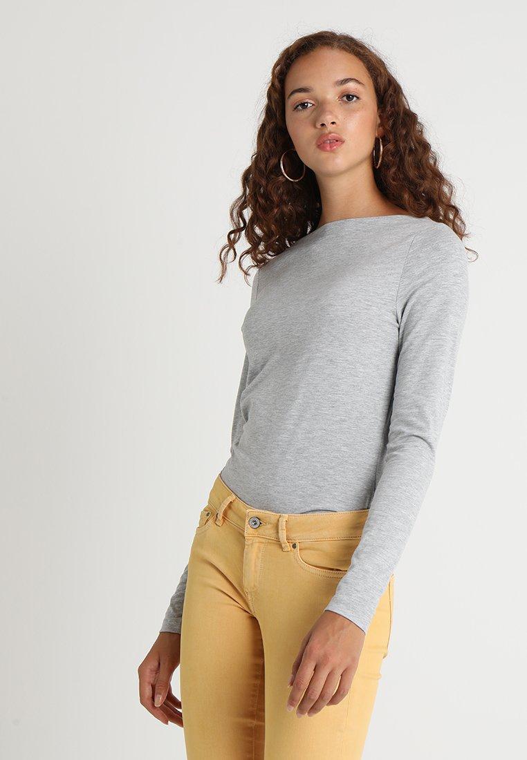 Vero Moda - VMPANDA  - Top sdlouhým rukávem - light grey melange