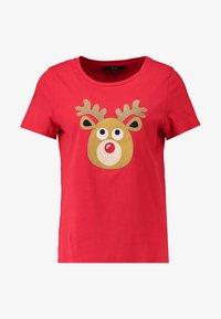 Vero Moda - VMREINDEER CHRISTMAS - T-shirts print - chinese red - 3