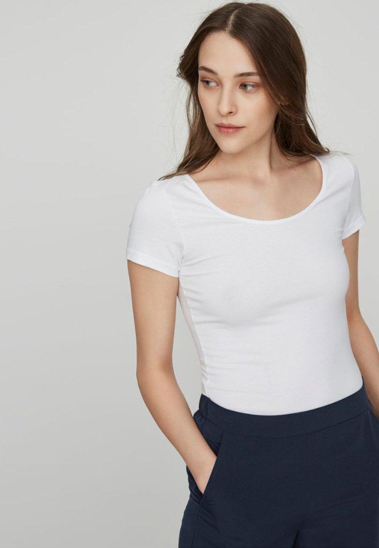 Vero Moda - 2 PACK - T-Shirt basic - off white/black