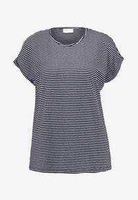 Vero Moda - VMAVA PLAIN STRIPE - T-Shirt print - night sky/snow white - 3