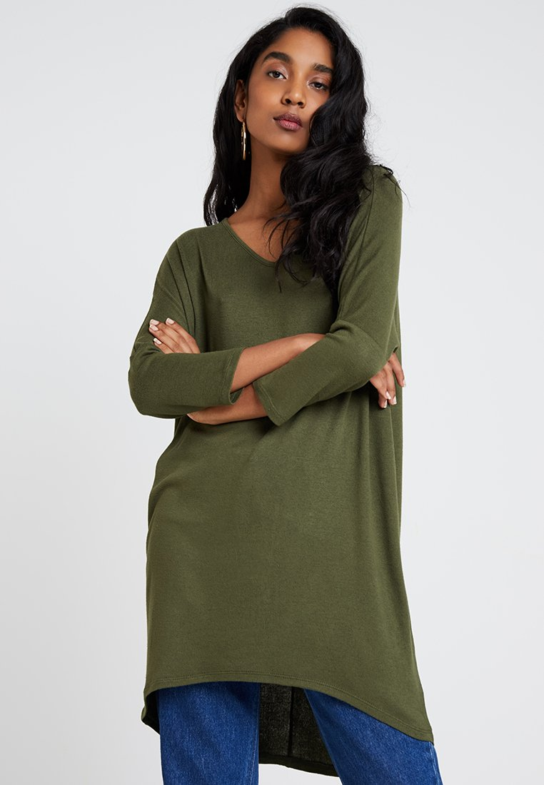Vero Moda - VMPAYA 3/4 V-NECK LONG - Jumper - ivy green