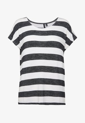 VMWIDE STRIPE TOP  - Camiseta estampada - snow white/black