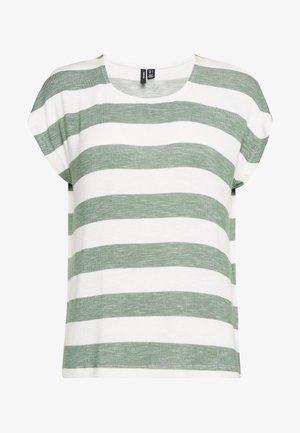 VMWIDE STRIPE TOP  - T-shirt med print - laurel wreath/snow white