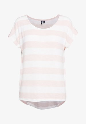VMWIDE STRIPE TOP  - T-shirts med print - sepia rose/snow white