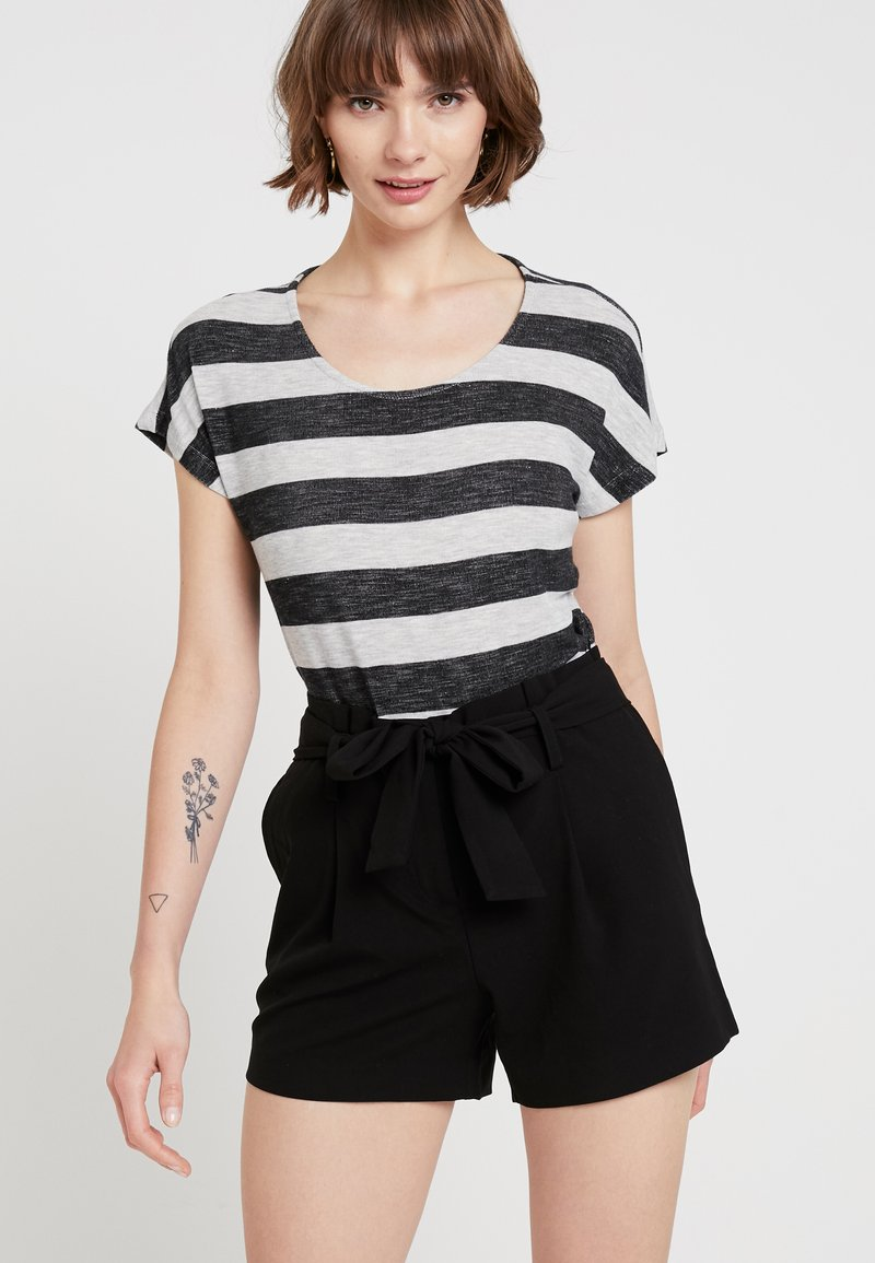 Vero Moda - VMWIDE STRIPE TOP  - T-Shirt print - black