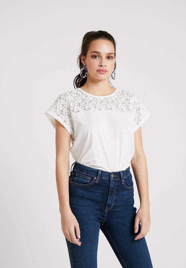 Vero Moda - VMSAGA WIDE - T-Shirt print - snow white