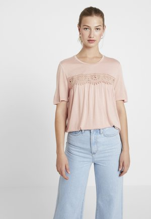 VMJAYCEE NORMAL DETAIL - T-shirt z nadrukiem - misty rose
