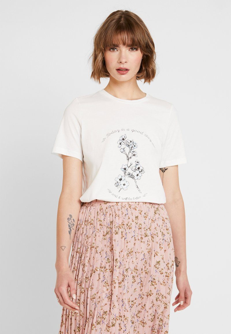 Vero Moda - VMKALOPSIA - T-Shirt print - snow white